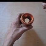 Neodymium magneet in een koperen pijp