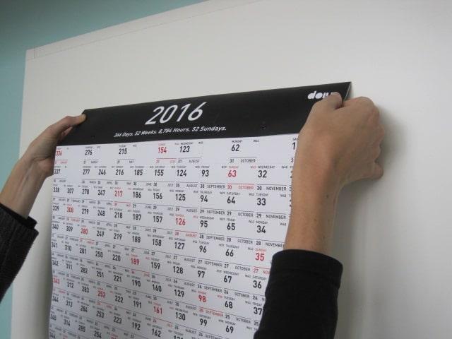 Poster ophangen met magneten