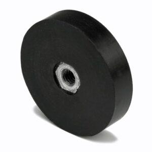 Rubberen potmagneten met schroefdraad